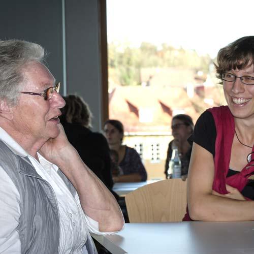 Gespräch beim Erzählcafé in Schwäbisch-Hall am 8.11.2015