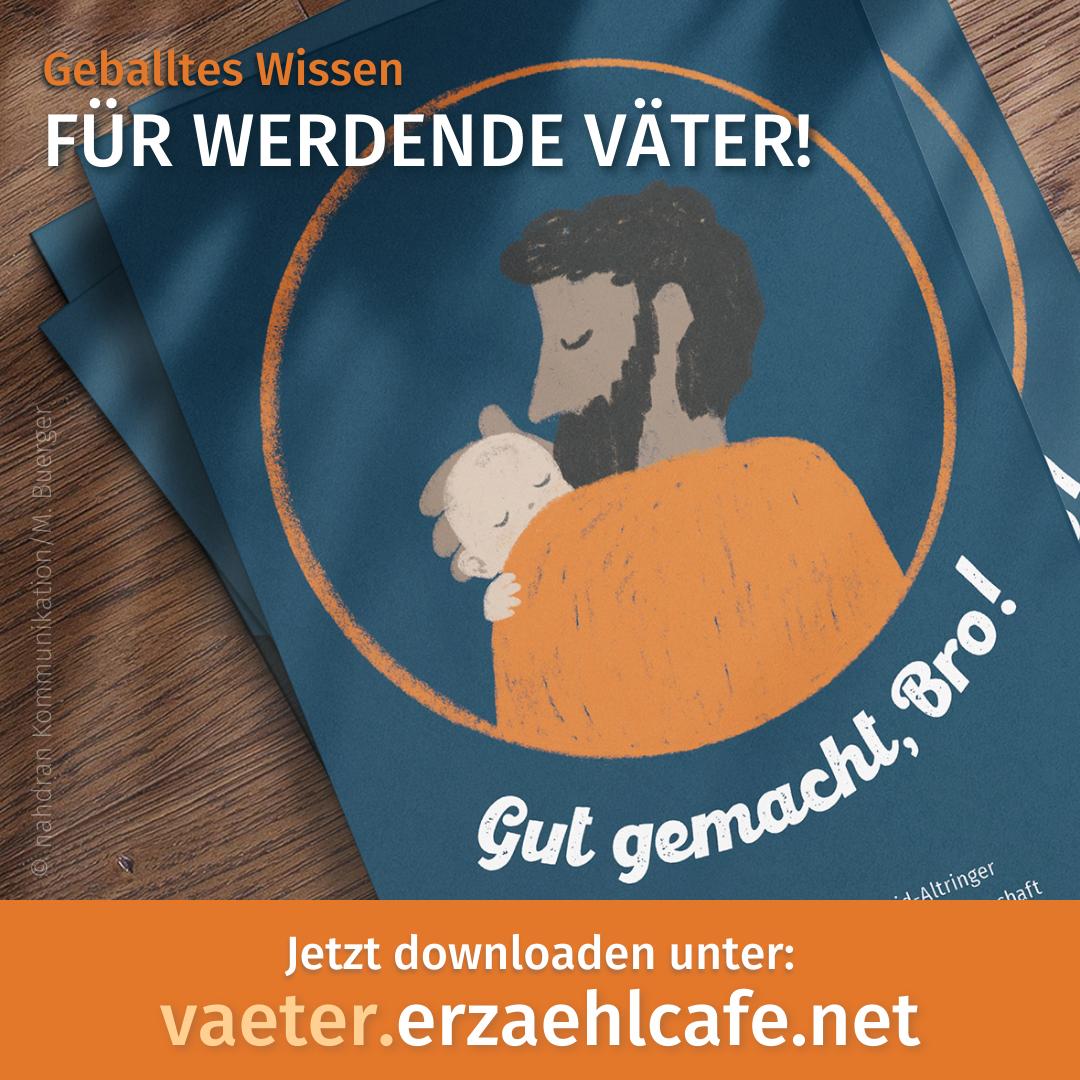 """Väter-Flyer """"Respekt Mann, Du wirst Vater!"""" zum Download"""